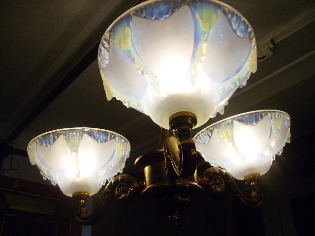画像5: シャンデリア 3灯 シェード付き セット