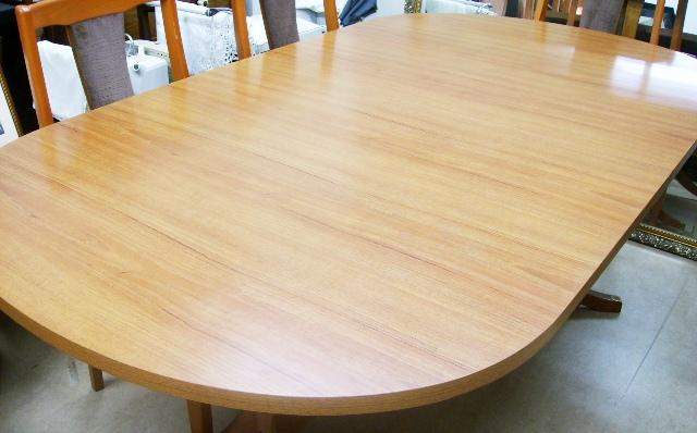 画像2: Schreiberシュエイバー製ミッドセンチュリー ダイニングテーブル(伸長式)+チェアー6脚セット