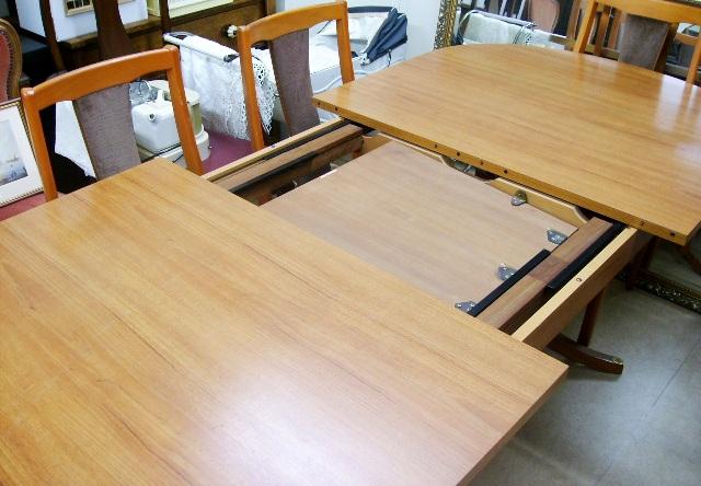 画像3: Schreiberシュエイバー製ミッドセンチュリー ダイニングテーブル(伸長式)+チェアー6脚セット