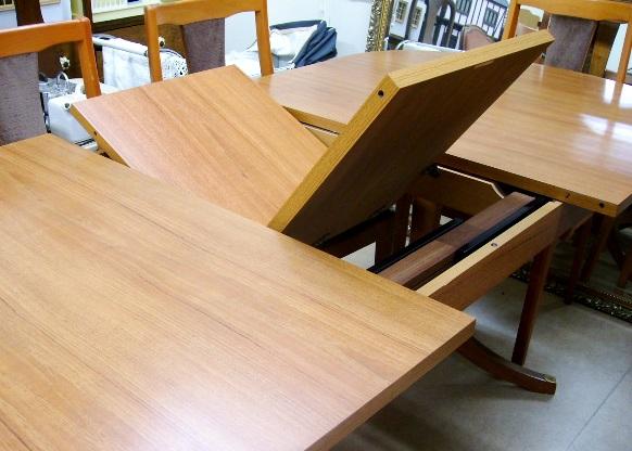 画像4: Schreiberシュエイバー製ミッドセンチュリー ダイニングテーブル(伸長式)+チェアー6脚セット