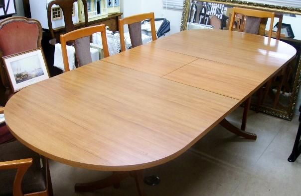 画像5: Schreiberシュエイバー製ミッドセンチュリー ダイニングテーブル(伸長式)+チェアー6脚セット