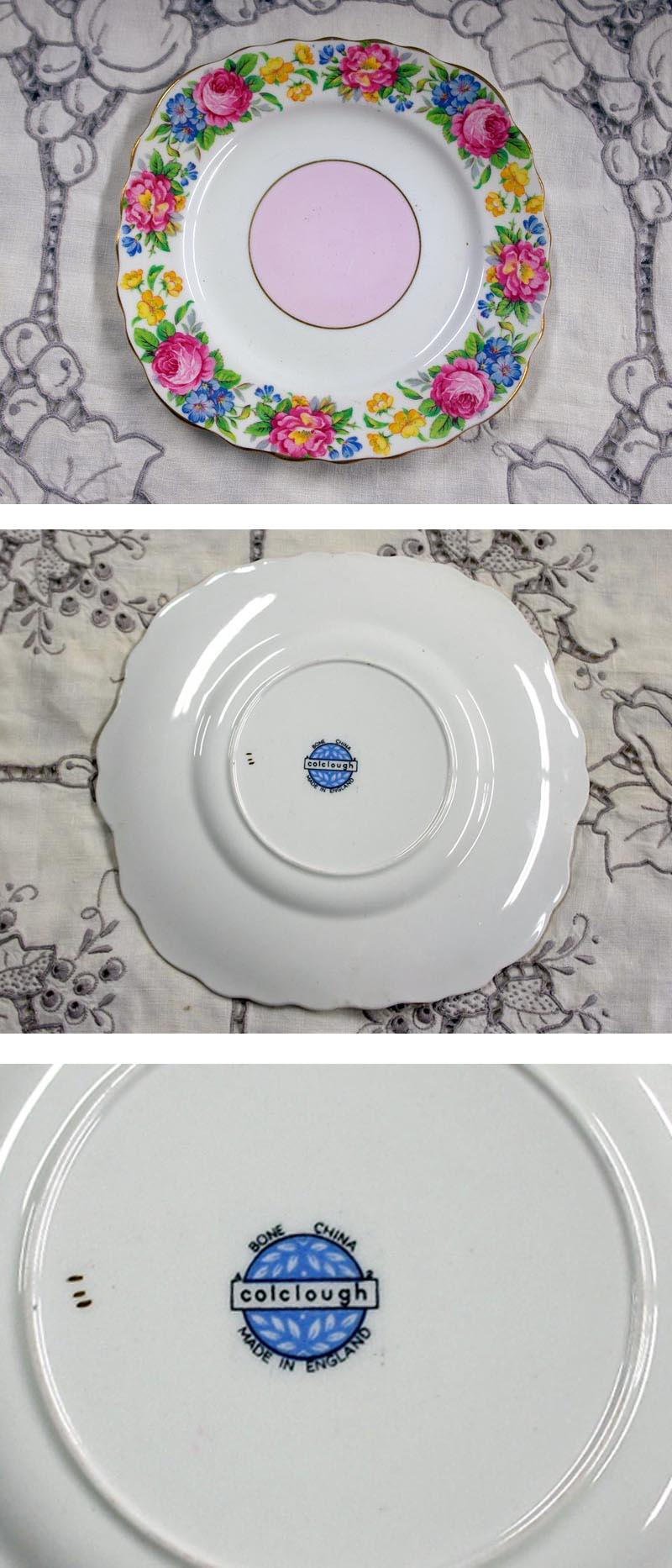 画像3: コルクラフColclough トリオ6客+シュガーボール+ミルクジャー+ケーキ皿