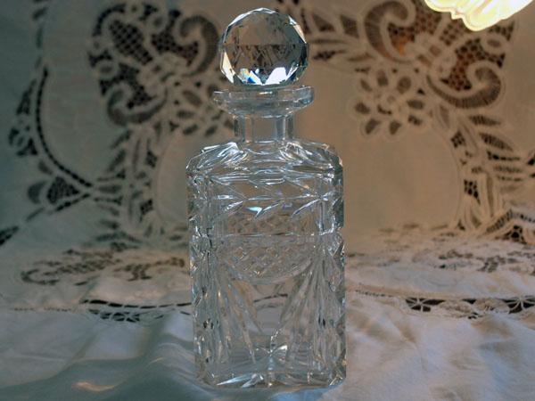 画像1: ウィスキー デカンタ  カットガラス