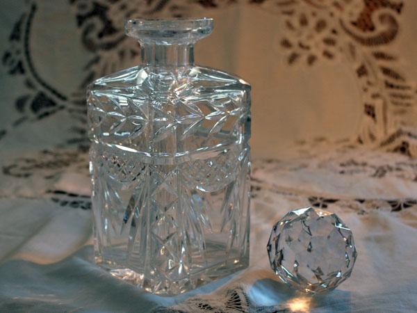 画像2: ウィスキー デカンタ  カットガラス
