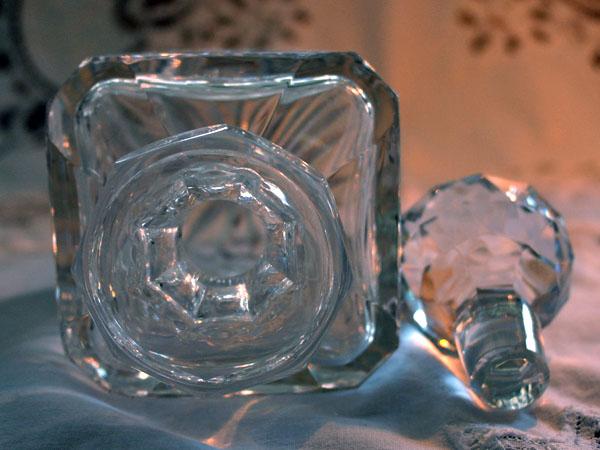 画像4: ウィスキー デカンタ  カットガラス