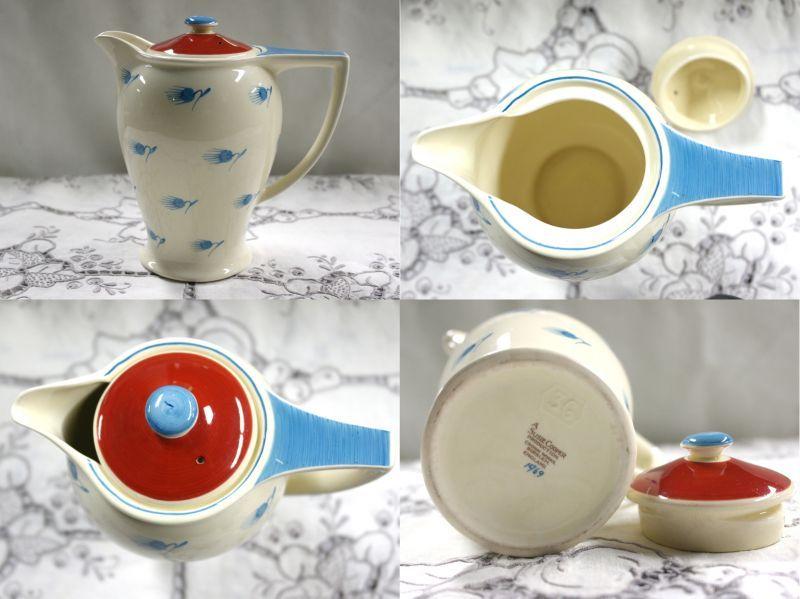 画像4: スージークーパー ウィスパーリング・グラス (Whispering Grass) ティーポット・コーヒーポット・ミルクジャー・デミタスカップ&ソーサー6客セット