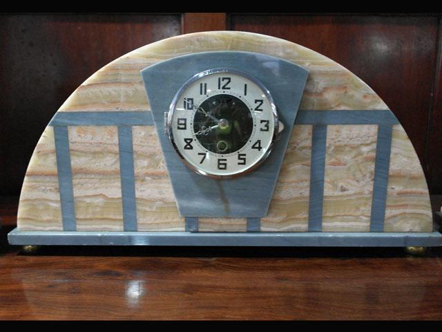 画像2: 大理石 時計+キャンドルセットx2