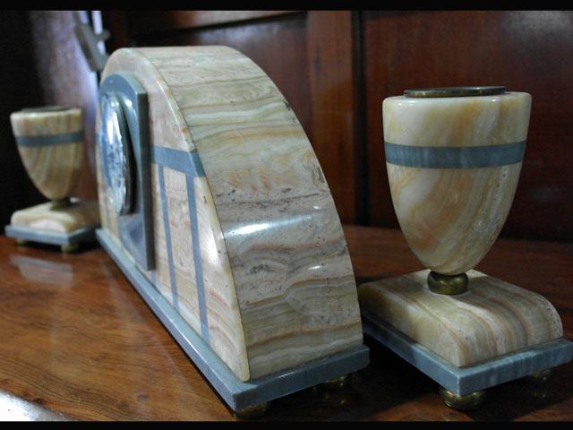画像5: 大理石 時計+キャンドルセットx2