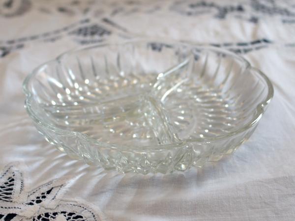 画像2: ビンテージ・ガラス オードブル ディッシュ