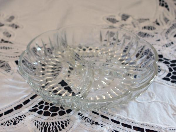 画像5: ビンテージ・ガラス オードブル ディッシュ