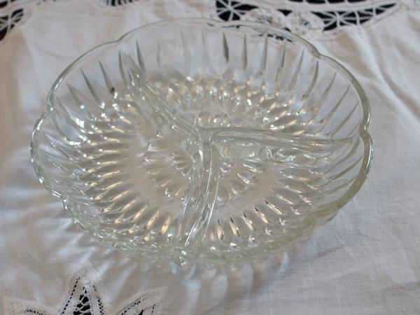 画像4: ビンテージ・ガラス オードブル ディッシュ