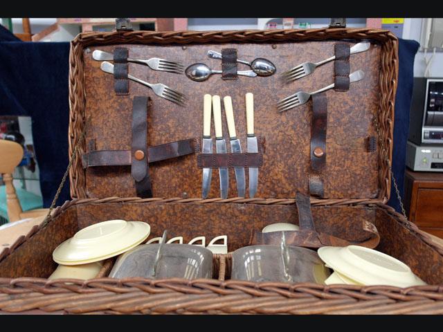 ピクニック セット 4人用 雑貨(道具・ガジェット) トランク/ピクニック