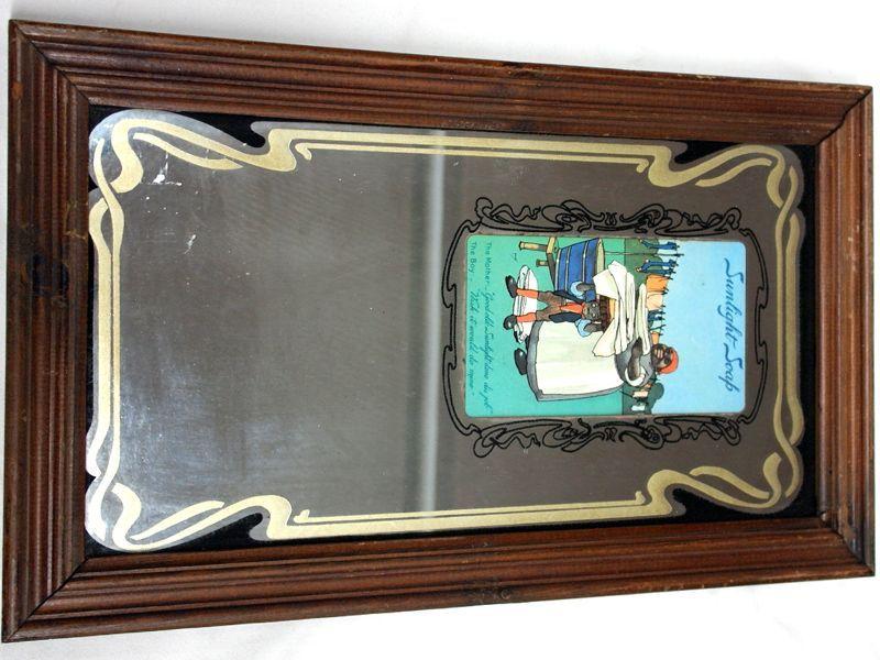画像1: 額付き 鏡