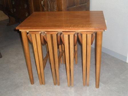 画像1: ネストテーブル(収納丸テーブルx4)