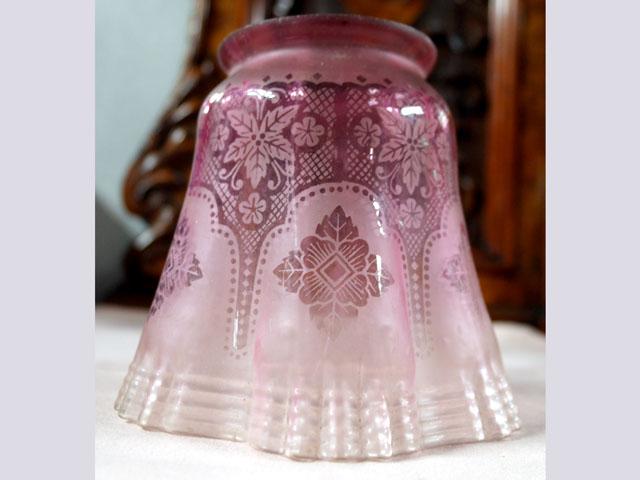 シェード クランベリー グラス アンティーク 照明 シェード