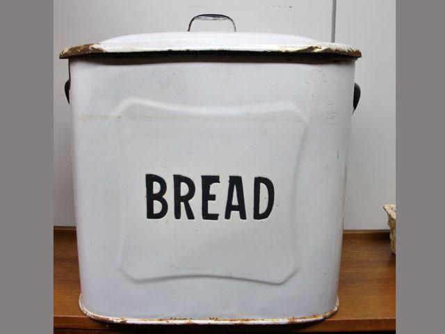 画像2: ホウロウ パン入れ