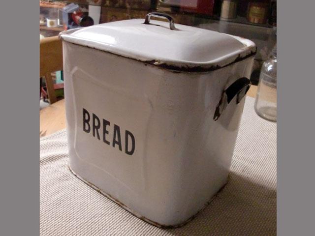画像3: ホウロウ パン入れ