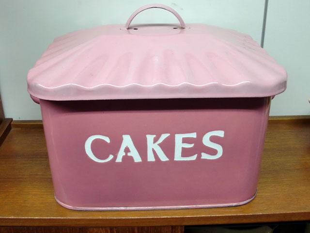 画像1: ホウロウ ケーキ入れ