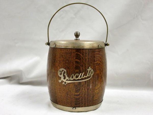 画像1: アイス バレル/ビスケット バレル(樽型容器)