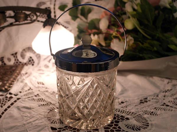 画像1: アイスバレル(氷入れ) カットガラス