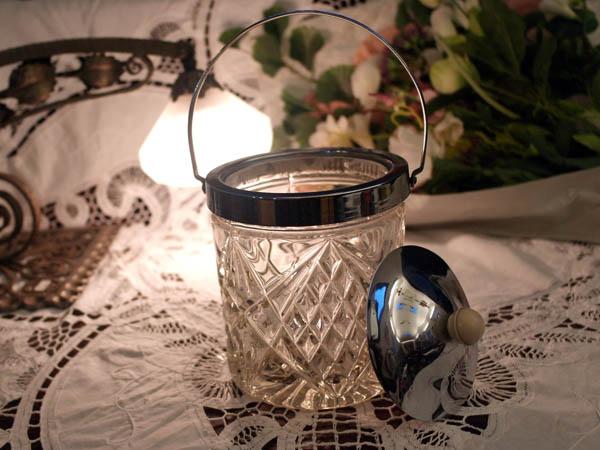 画像2: アイスバレル(氷入れ) カットガラス