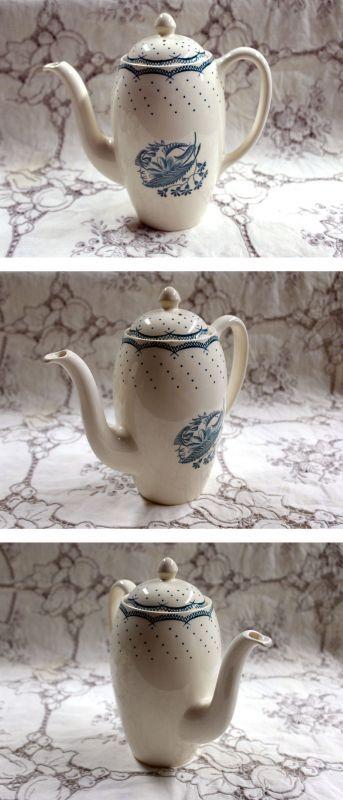 画像3: グレイ社Gray's Pottery デミ カップ&ソーサー5客+ジャグ+シュガーボール+ポット