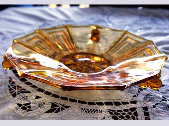 画像4: ガラス バーズ(花器) アンバーガラス