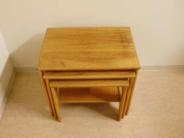 画像1: ミッドセンチュリー ネストテーブル