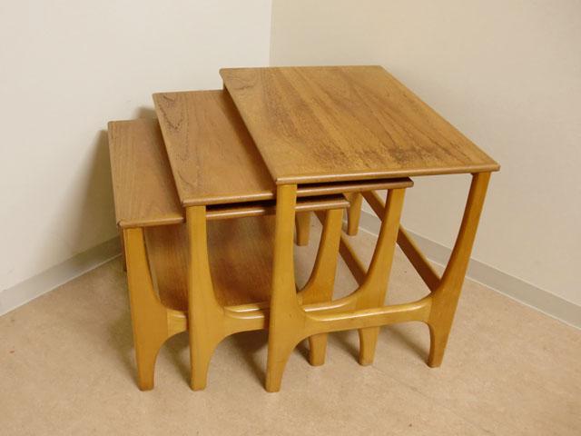 画像2: ミッドセンチュリー ネストテーブル