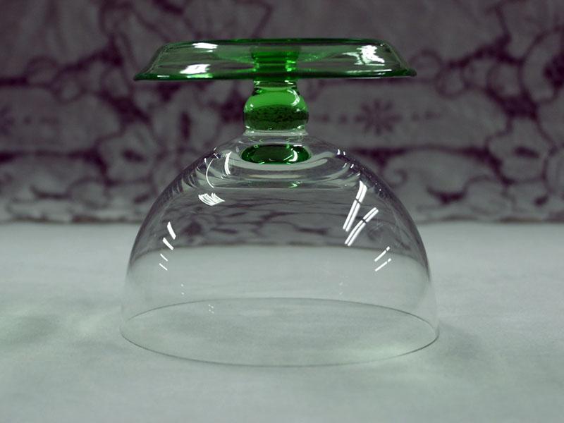 画像4: アイスクリーム グラス 5脚セット クリア&グリーン