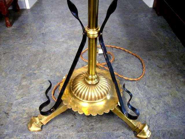 画像5: オイルランプスタンド 伸縮可(シェード付き)