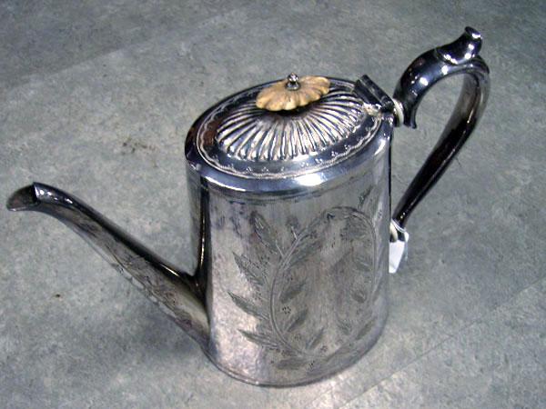 画像1: シルバープレート コーヒーポット&シュガーポット&ミルクジャグ セット商品