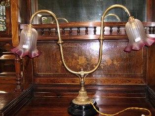 画像2: ランプスタンド 2灯用 (シェード付き)