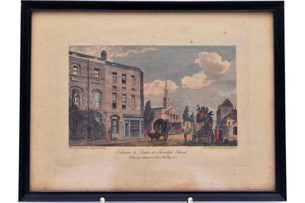 絵 古ロンドン風景(1) 雑貨(ホビー) 絵・額入り品