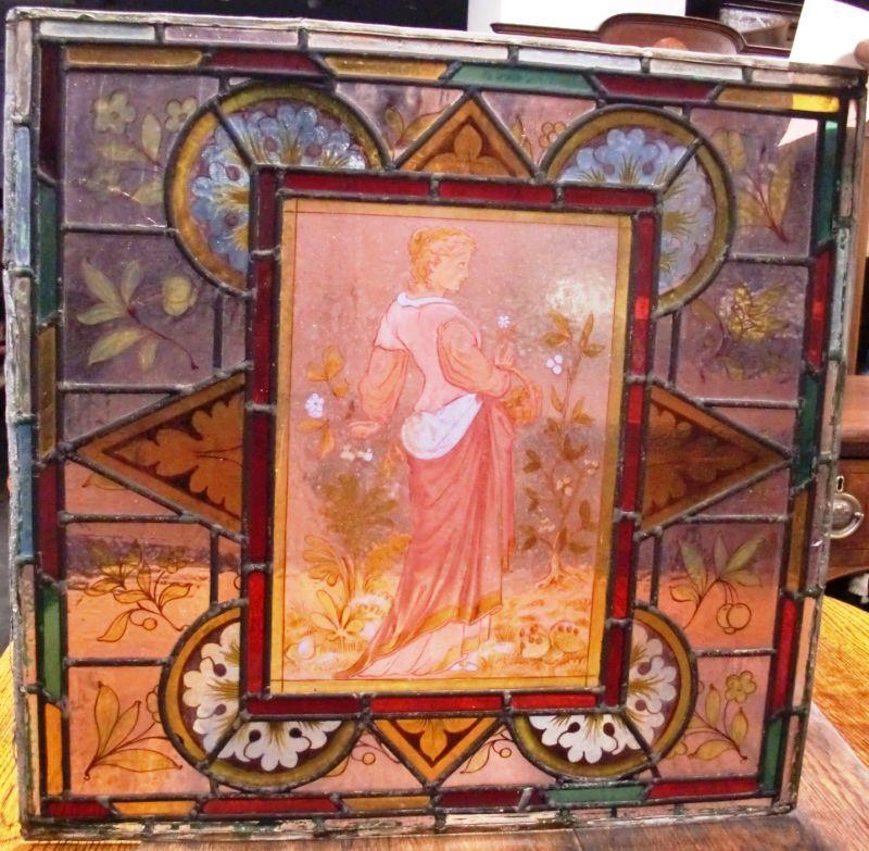 画像2: ステンドグラス (エナメル彩色の女性画付き) 1