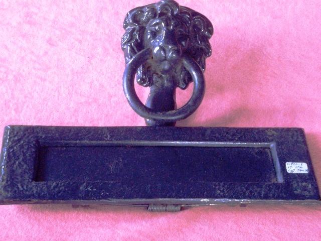 画像1: ドアノッカー・レターポスト・鍵穴 3点セット