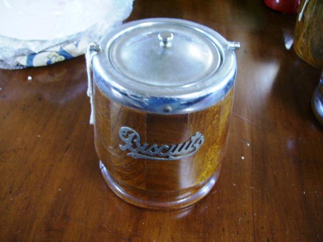 画像1: ビスケット バレル(樽型容器)