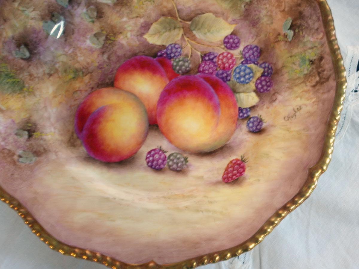 画像2: プレート Royal Worcester ロイヤルウスター Orchard Fruit /オーチャード フルーツ 22金