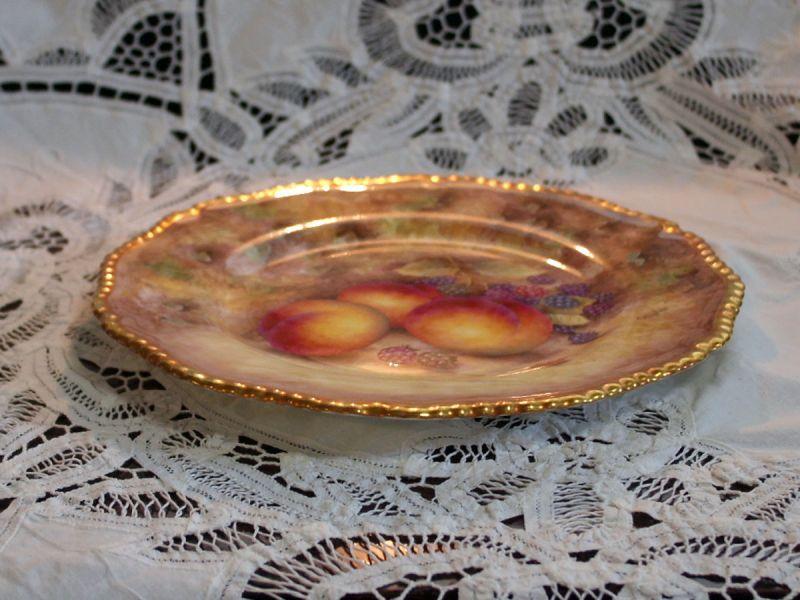 画像4: プレート Royal Worcester ロイヤルウスター Orchard Fruit /オーチャード フルーツ 22金