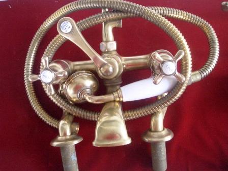 画像1: 蛇口&シャワーヘッド(ホースの長さ約165cm)
